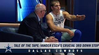 Tale of the Tape: Leighton Vander Esch's Crucial 3rd Down Stop | Dallas Cowboys 2019