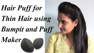 Hair Puff for Thin Hair using Bumpit and Puff Maker