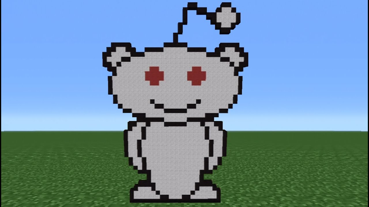 Minecraft Tutorial  How To Make Athe Reddit Logo