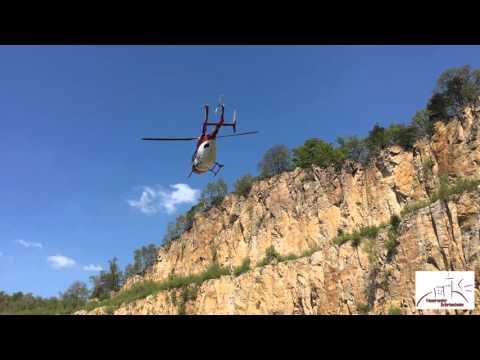 Hubschrauberstart Christoph 53 Steinbruch