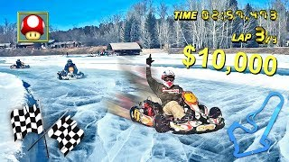 INSANE ICE KARTING FOR $10,000 W/ TEAM 10