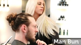 Man Bun ★ How to make the Famous Celebrity Top Knot ★ Men