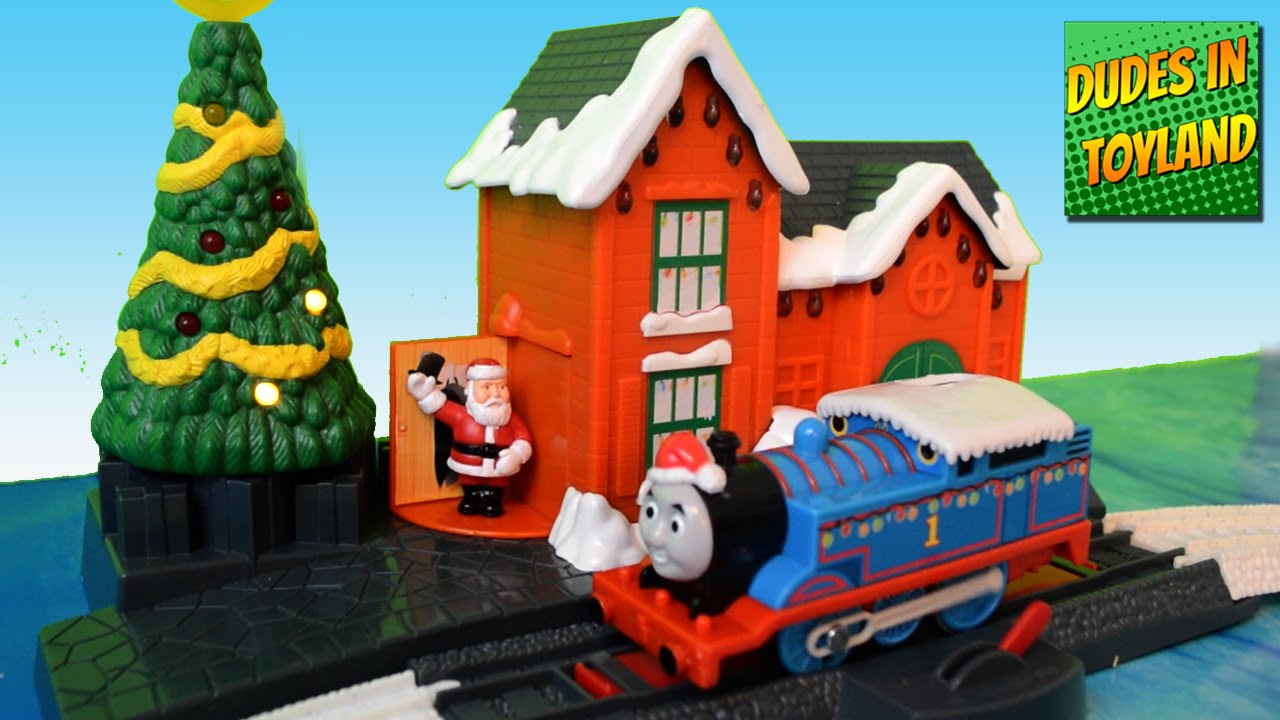 Thomas The Train Christmas.Thomas And Friends Christmas Train Toys For Children Delivery On Sodor Trackmaster Video