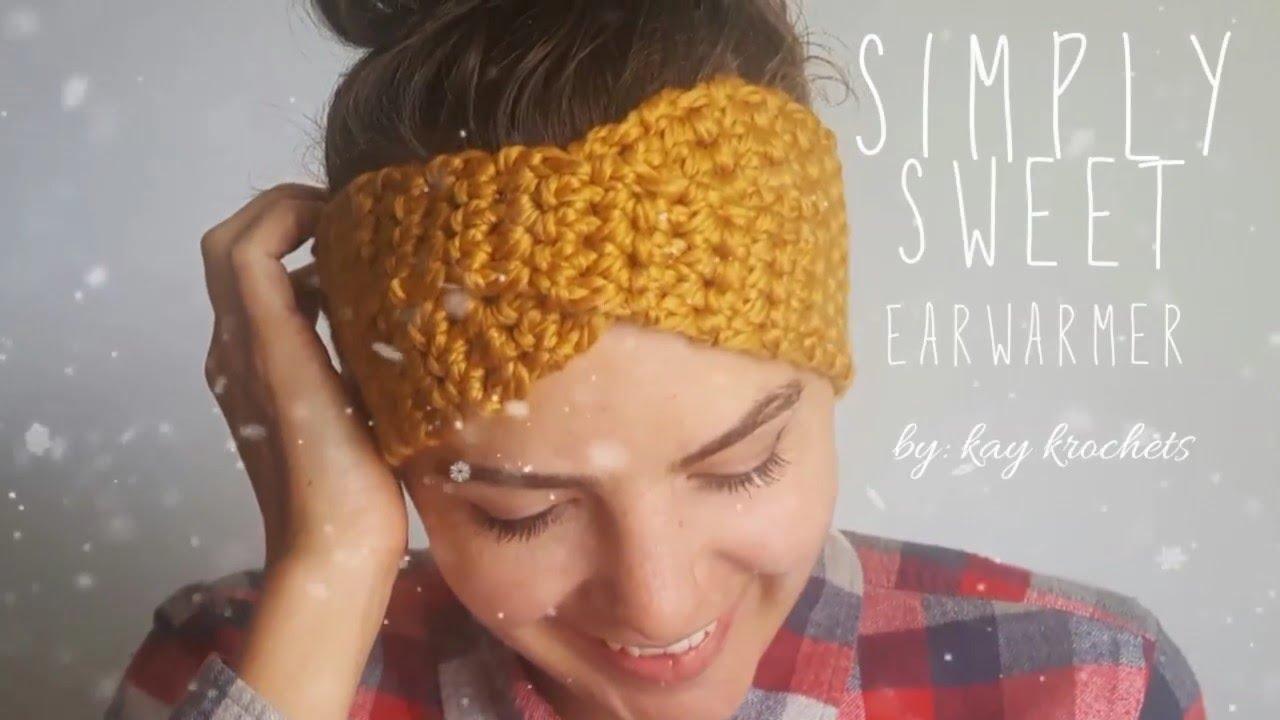 How To Crochet Simply Sweet Earwarmer Twisted Earwarmer Turban