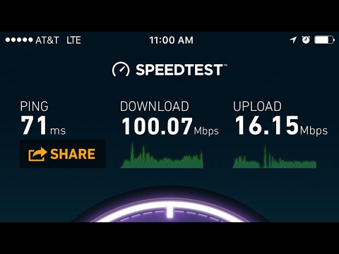 AT&T LTE Network Testing! Speed Tests
