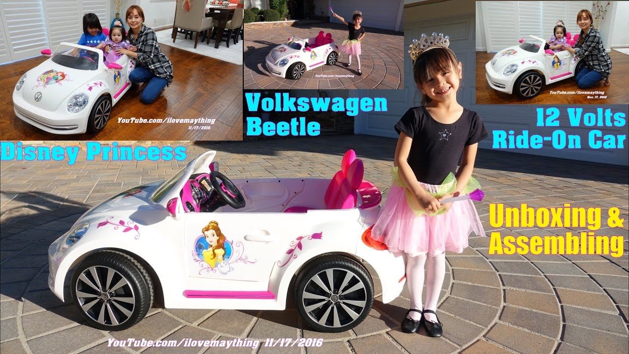 Power Wheels Disney Princess Ride On Car Volkswagen Beetle