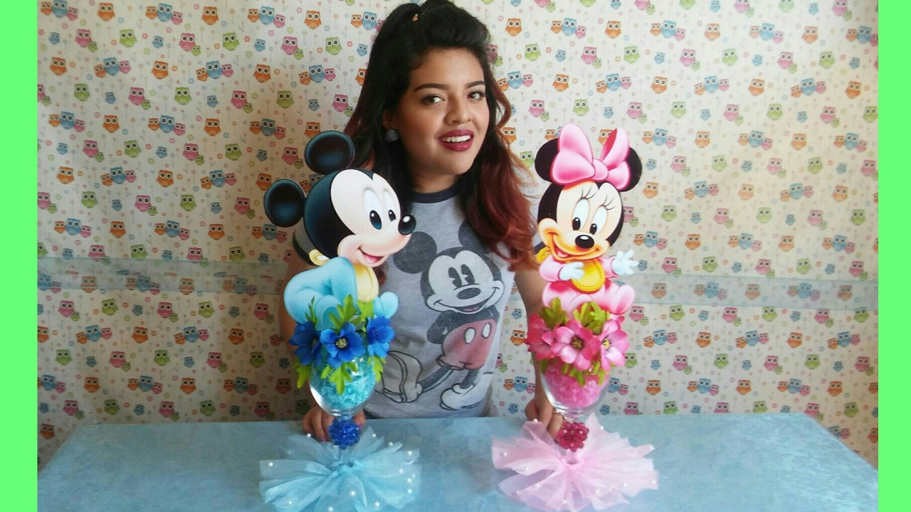 Centro de mesa de bebe mickey y minnie mouse baby mickey baby minnie centerpieces youtube - Photo minnie et mickey bebe ...