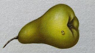 Como pintar pera verde e gotinha