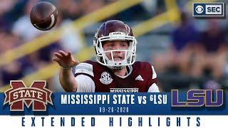 Mississippi State Bulldogs vs #6 LSU Tigers  | SEC Football Extended Highlights | CBS Sports HQ