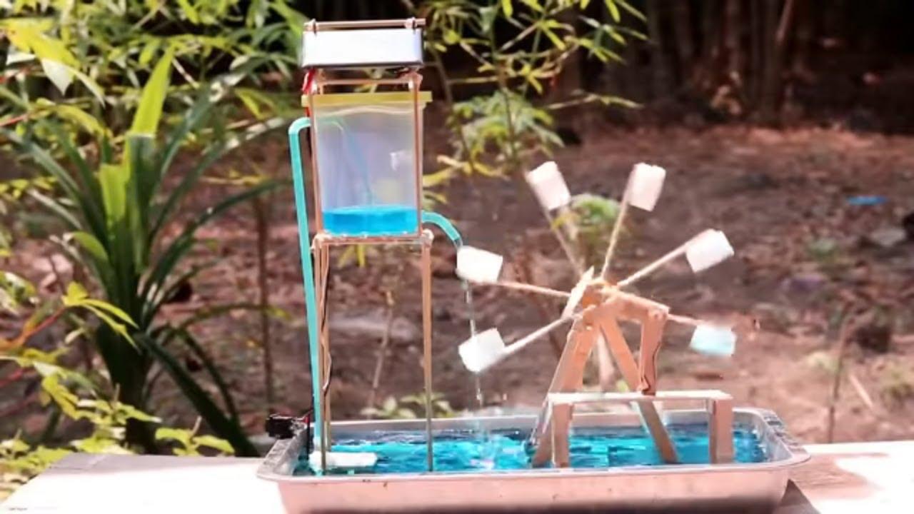 cara membuat kincir air pak tani tanpa listrik / listrik gratis