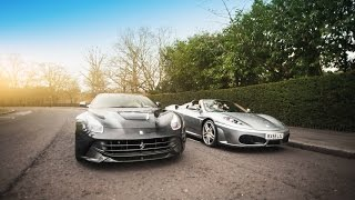 Christmas Day with a Ferrari F12 & F430!