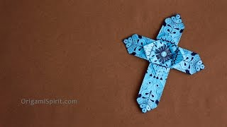 Origami Cross - Version 1 : : Cross for Easter