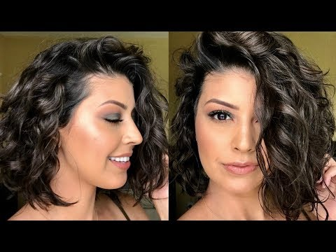 How To Style Short WavyCurly Hair  YouTube