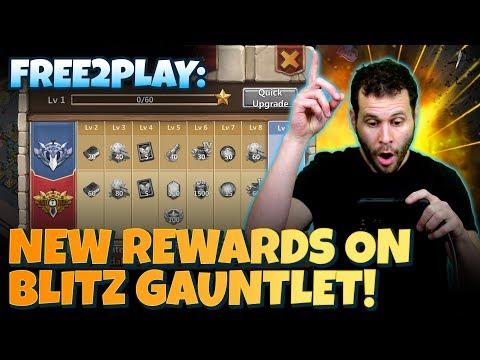 JT's F2P New Rewards And Season Blitz Gauntlet Castle Clash