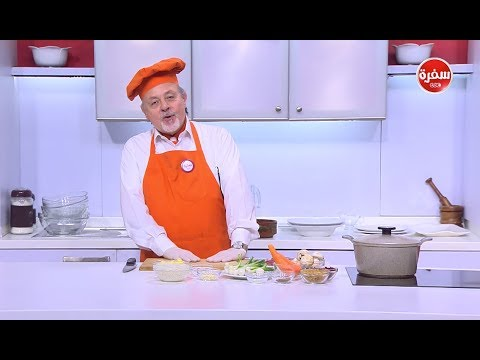 أرز بالثوم والبصل الأخضر - طاجن لحمة جملي إيمانسيه بالبصل الأخضر والزبيب: طبخة ونص(حلقة كاملة)