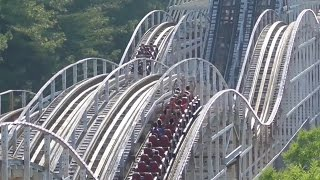 Rebel Yell Review Kings Dominion Roller Coaster HD 60fps