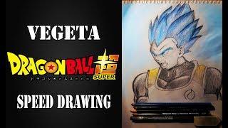 Speed Drawing - Dragon ball super vegeta BLUE ✔ (DRAWING by Giorgio Conedera) Resimi