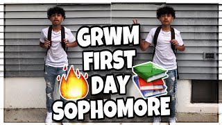 GRWM | First Day of School (Sophomore Year) 📚!