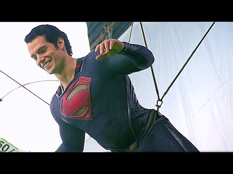 Stunts & VFX Superman Vs Zod 'Man Of Steel' Behind The Scenes [+Subtitles]