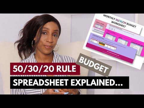 50 30 20 Rule Spreadsheet - 50/30/20 Budget Explained