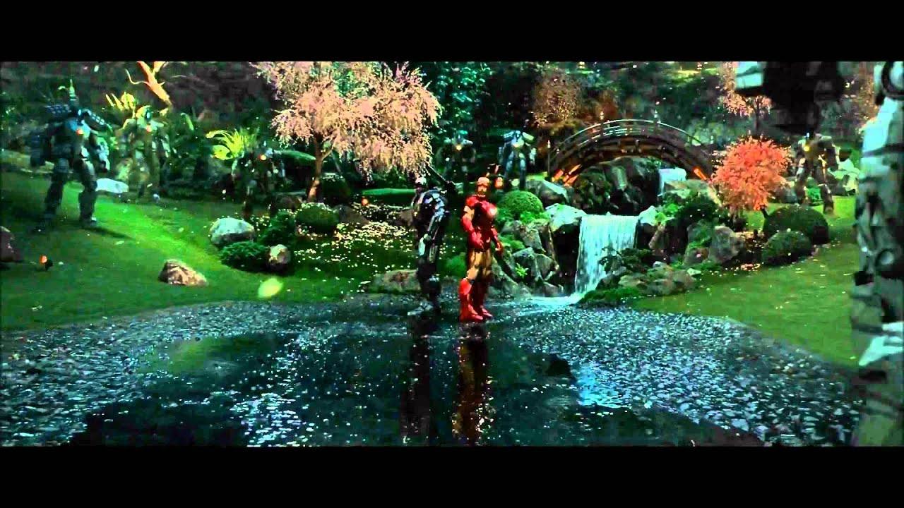 Iron Man 2 Drone Fight Scene HD - YouTube