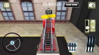 American fire truck parking 3D Gameplay (Android) (1080p)