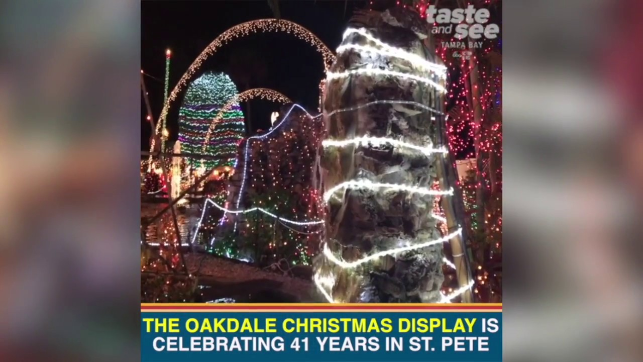 Oakdale Christmas House in St. Pete - YouTube