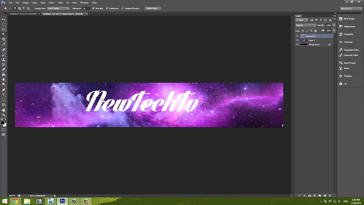 How To Make a Really Good Simple Banner In Photoshop CS6