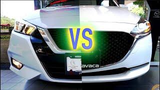Mazda 2 Sedán VS Versa Advance En sus versiones intermedias.