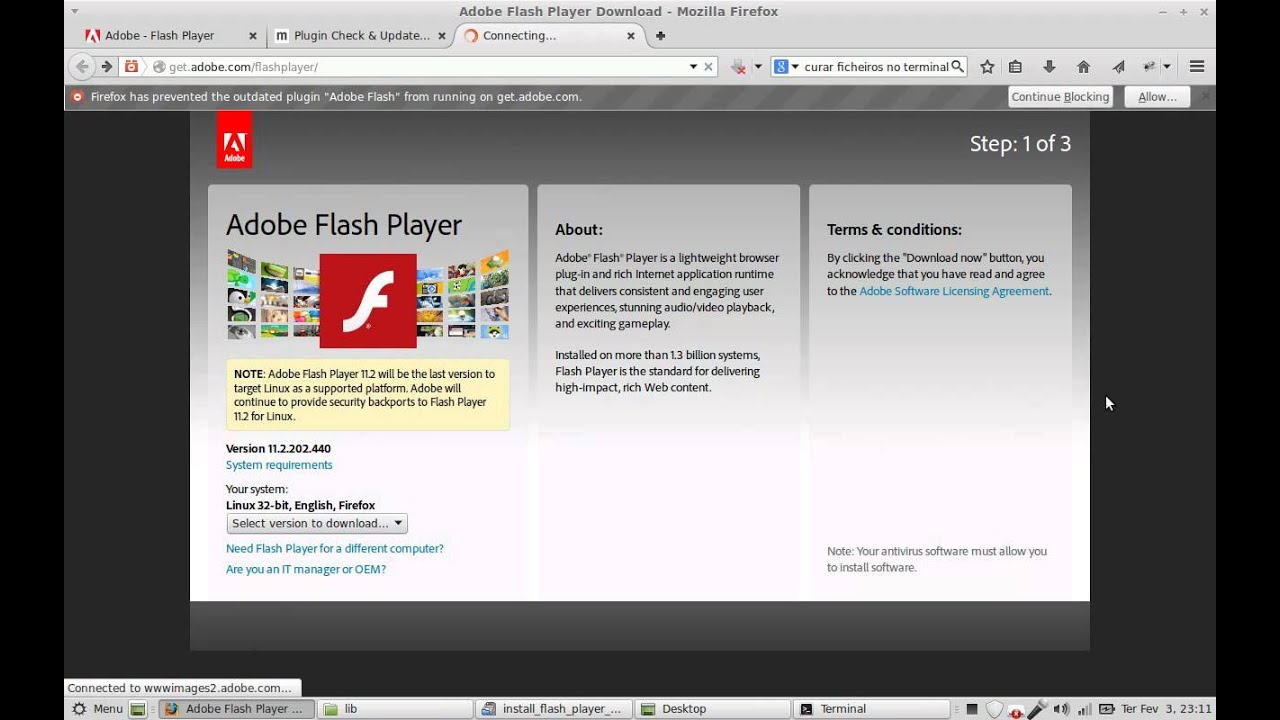 Скачать Flash Player для Linux Deb