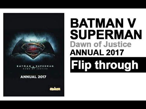 Batman V Superman Annual 2017 Book Flip Through