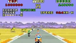 Sega Arcade Gallery (GBA) - Super Hang On (Africa Course)