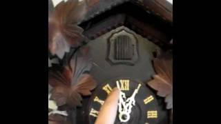 Antique Black Forest Cuckoo Clock Running