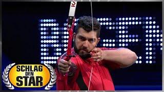 Spiel 7 - Bogenschiessen - Faisal Kawusi vs. Ralf Möller | Schlag den Star