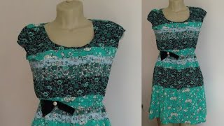 Costurando Vestido de crepe fácil – Corte, costura e modelagem