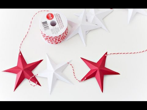 How To Make 3d Paper Star Youtube