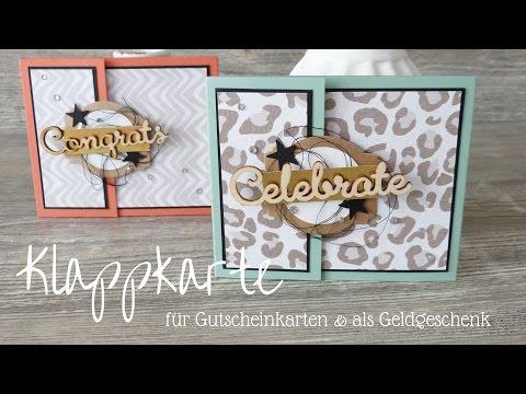 Klappkarte | Gutscheine | Geldgeschenke | Stampin´ Up!