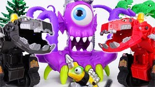 A Giant Purple Monster From The Sea~! Go Dinotrux Defeat The Monster