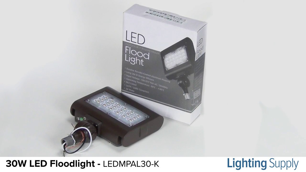 Attractive Best Lighting Products 30W LED Floodlight With Knuckle Mount (LEDMPAL30K)