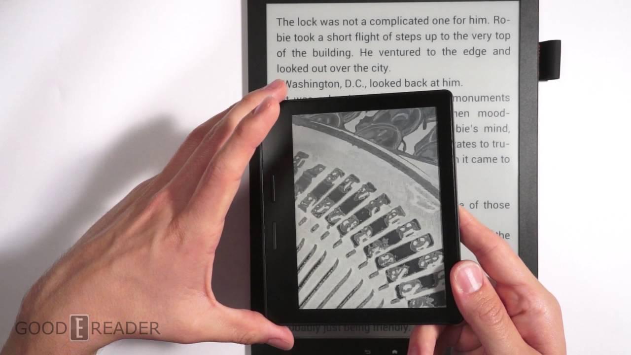 Good e-Reader 13 3 vs Kindle Oasis - Size / Display Comparison