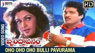 Brindavanam Telugu Movie Songs | Oho Oho Bulli Pavurama Video Song | Rajendra Prasad | Ramya Krishna