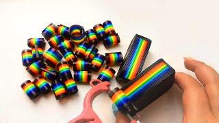 rainbow curls asmr \ cutting dry soap \ радужные завиточки, хрустящее сухое мыло и кубики АСМР