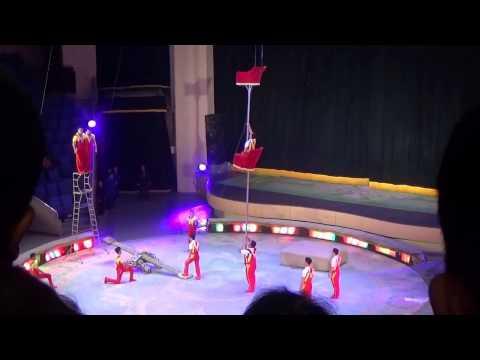 Circus in Pyongyang, North Korea, DPRK, acrobats 4/5