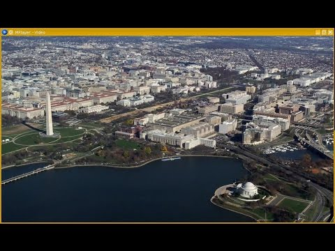 Departure from Ronald Reagan Washington National Airport, over National Mall