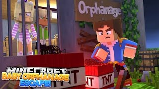 Minecraft Roleplay - LITTLE DONNY HELPS LEAH & HUGO ESCAPE THE BABY ORPHANAGE!!