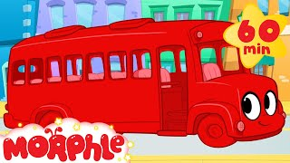 bus adventures with morphle 1 hour my magic pet morphle kids vehicle videos compilation