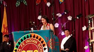 SFIS GRADUATION CEREMONY 2019 –  VALEDICTORIAN ADDRESS Alexia Chvez Cochiti Pueblo