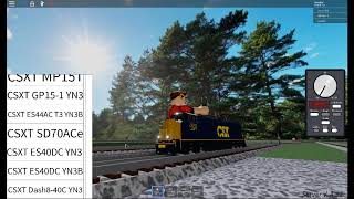 A CSX SD70ACE in roblox