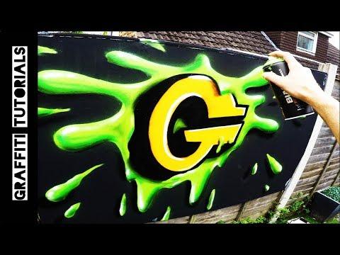 How to Paint Slime  // GRAFFITI TUTORIALS