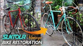Bike Restoration - 60s SUNTOUR V NTAGE B KE CELESTE B KE PROJECT